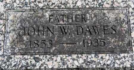DAWES, JOHN W. - Erie County, Ohio | JOHN W. DAWES - Ohio Gravestone Photos