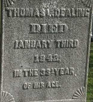 DEALING, THOMAS L. - Erie County, Ohio | THOMAS L. DEALING - Ohio Gravestone Photos
