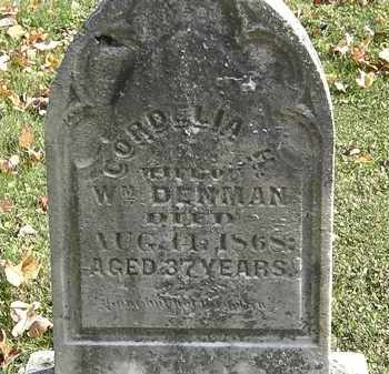 DENMAN, CORDELIA H. - Erie County, Ohio | CORDELIA H. DENMAN - Ohio Gravestone Photos