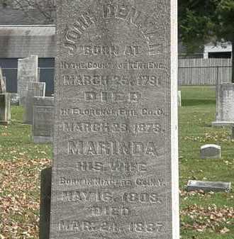 DENMAN, JOHN - Erie County, Ohio | JOHN DENMAN - Ohio Gravestone Photos