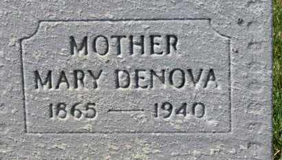 DENOVA, MARY - Erie County, Ohio | MARY DENOVA - Ohio Gravestone Photos