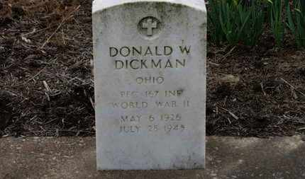 DICKMAN, DONALD W. - Erie County, Ohio | DONALD W. DICKMAN - Ohio Gravestone Photos