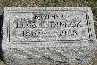 DIMICK, LOIS J. - Erie County, Ohio | LOIS J. DIMICK - Ohio Gravestone Photos