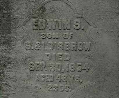 DISBROW, EDWIN S. - Erie County, Ohio | EDWIN S. DISBROW - Ohio Gravestone Photos