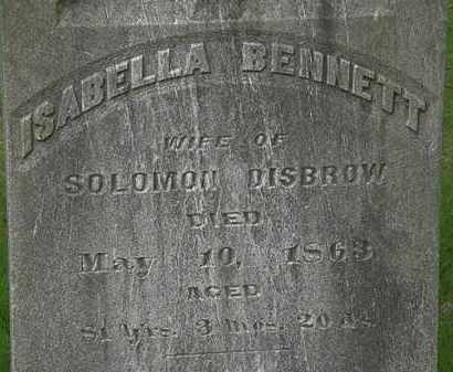 BENNETT DISBROW, ISABELLA - Erie County, Ohio | ISABELLA BENNETT DISBROW - Ohio Gravestone Photos