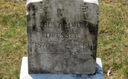 DRESSEL, EDWARD D. - Erie County, Ohio | EDWARD D. DRESSEL - Ohio Gravestone Photos