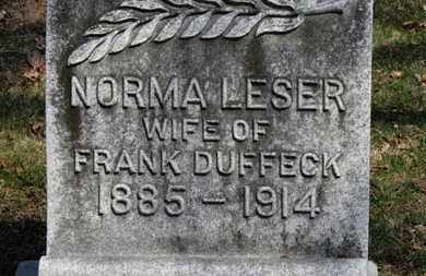 DUFFECK, NORMA - Erie County, Ohio | NORMA DUFFECK - Ohio Gravestone Photos