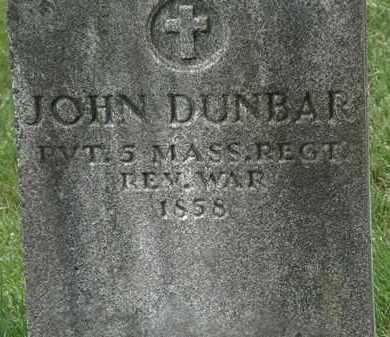 DUNBAR, JOHN - Erie County, Ohio | JOHN DUNBAR - Ohio Gravestone Photos