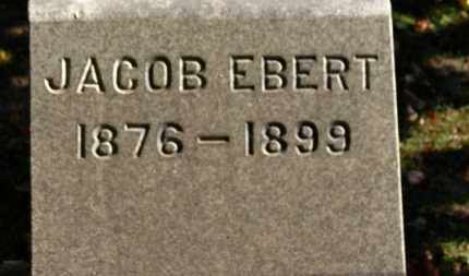 EBERT, JACOB - Erie County, Ohio | JACOB EBERT - Ohio Gravestone Photos