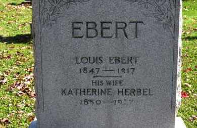 EBERT, LOUIS - Erie County, Ohio | LOUIS EBERT - Ohio Gravestone Photos