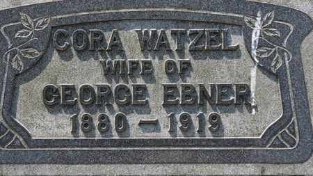 WATZEL EBNER, CORA - Erie County, Ohio | CORA WATZEL EBNER - Ohio Gravestone Photos