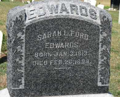 FORD EDWARDS, SARAH L. - Erie County, Ohio | SARAH L. FORD EDWARDS - Ohio Gravestone Photos