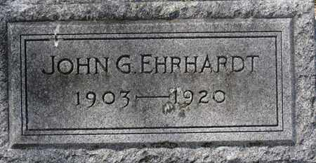 EHRHARDT, JOHN G. - Erie County, Ohio | JOHN G. EHRHARDT - Ohio Gravestone Photos