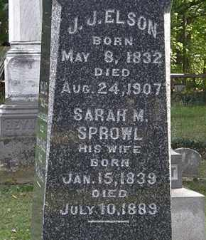 SPROWL ELSON, SARAH M. - Erie County, Ohio | SARAH M. SPROWL ELSON - Ohio Gravestone Photos