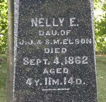 ELSON, NELLY E. - Erie County, Ohio | NELLY E. ELSON - Ohio Gravestone Photos