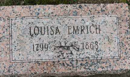 EMRICH, LOUISA - Erie County, Ohio | LOUISA EMRICH - Ohio Gravestone Photos