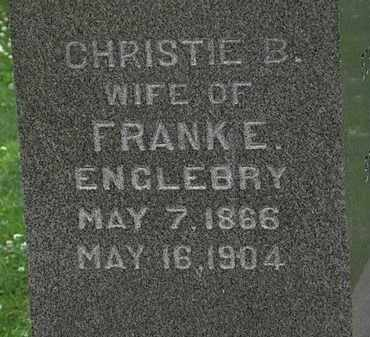 ENGLEBRY, CHRISTIE B. - Erie County, Ohio | CHRISTIE B. ENGLEBRY - Ohio Gravestone Photos