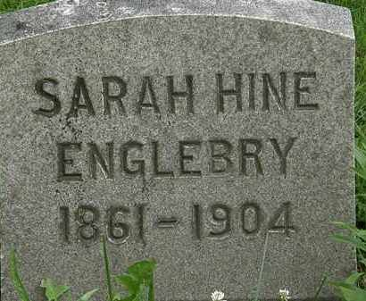ENGLEBRY, SARAH HINE - Erie County, Ohio | SARAH HINE ENGLEBRY - Ohio Gravestone Photos