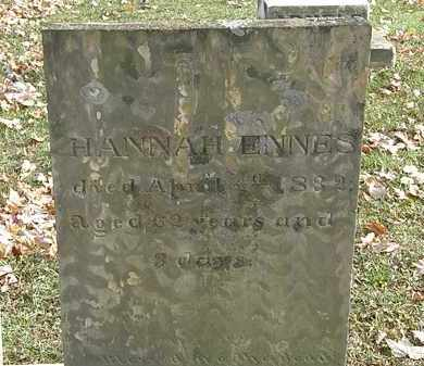 DEWITT ENNES, HANNAH - Erie County, Ohio | HANNAH DEWITT ENNES - Ohio Gravestone Photos