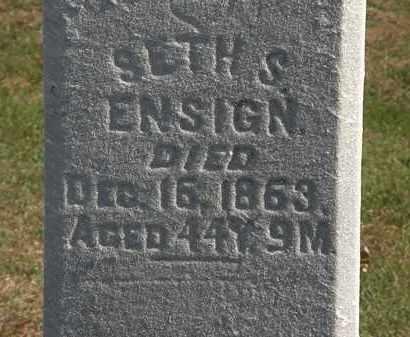 ENSIGN, SETH S. - Erie County, Ohio | SETH S. ENSIGN - Ohio Gravestone Photos