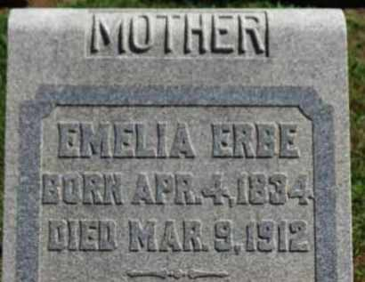 ERBE, EMELIA - Erie County, Ohio | EMELIA ERBE - Ohio Gravestone Photos