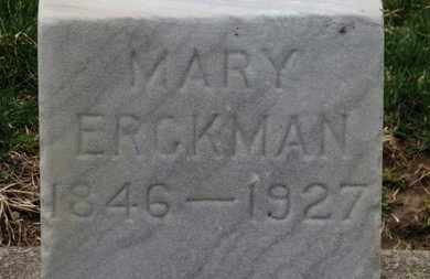 ERCKMAN, MARY - Erie County, Ohio | MARY ERCKMAN - Ohio Gravestone Photos