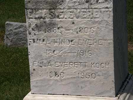 EVERETT KOCH, ELLA - Erie County, Ohio | ELLA EVERETT KOCH - Ohio Gravestone Photos