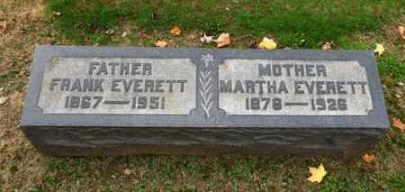 EVERETT, MARTHA - Erie County, Ohio | MARTHA EVERETT - Ohio Gravestone Photos