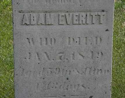 EVERITT, ADAM - Erie County, Ohio | ADAM EVERITT - Ohio Gravestone Photos