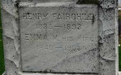 FAIRCHILD, HENRY - Erie County, Ohio | HENRY FAIRCHILD - Ohio Gravestone Photos