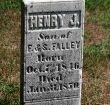 FALLEY, HENRY J. - Erie County, Ohio | HENRY J. FALLEY - Ohio Gravestone Photos