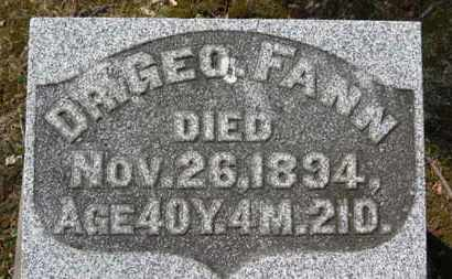 FANN, GEO. - Erie County, Ohio | GEO. FANN - Ohio Gravestone Photos