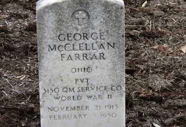 FARRAR, GEORGE MCCLELLAN - Erie County, Ohio | GEORGE MCCLELLAN FARRAR - Ohio Gravestone Photos