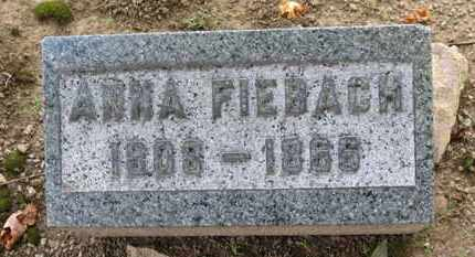 FIEBACH, ANNA - Erie County, Ohio | ANNA FIEBACH - Ohio Gravestone Photos