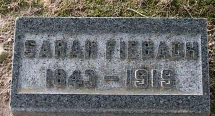 FIEBACH, SARAH - Erie County, Ohio | SARAH FIEBACH - Ohio Gravestone Photos