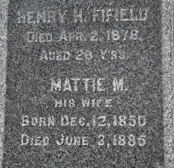 FIFIELD, HENRY H. - Erie County, Ohio | HENRY H. FIFIELD - Ohio Gravestone Photos