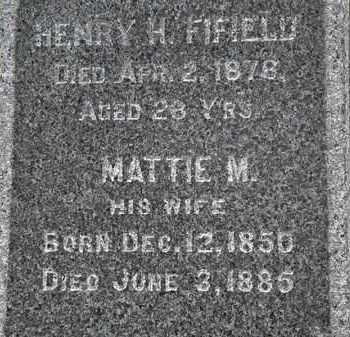 FIFIELD, MATTIE M. - Erie County, Ohio | MATTIE M. FIFIELD - Ohio Gravestone Photos