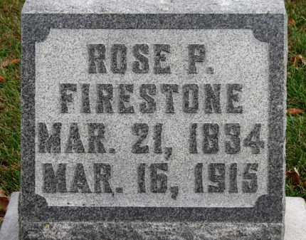 FIRESTONE, ROSE P. - Erie County, Ohio | ROSE P. FIRESTONE - Ohio Gravestone Photos