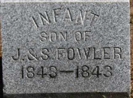 FOWLER, INFANT SON - Erie County, Ohio | INFANT SON FOWLER - Ohio Gravestone Photos