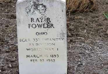 FOWLER, RAY R. - Erie County, Ohio | RAY R. FOWLER - Ohio Gravestone Photos