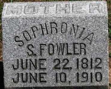 FOWLER, SOPHRONIA S. - Erie County, Ohio | SOPHRONIA S. FOWLER - Ohio Gravestone Photos