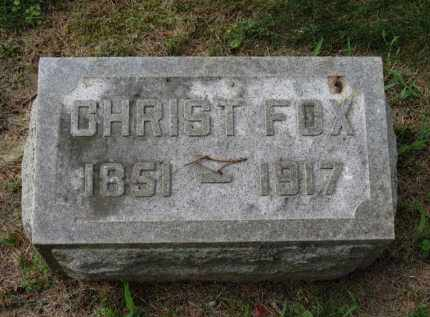 FOX, CHRIST - Erie County, Ohio | CHRIST FOX - Ohio Gravestone Photos
