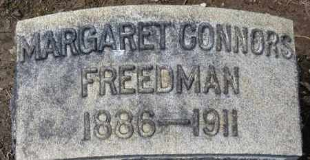 CONNERS FREEDMAN, MARGARET - Erie County, Ohio | MARGARET CONNERS FREEDMAN - Ohio Gravestone Photos