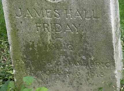 FRIDAY, JAMES HALL - Erie County, Ohio | JAMES HALL FRIDAY - Ohio Gravestone Photos