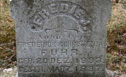FUHR, FREDERICK - Erie County, Ohio | FREDERICK FUHR - Ohio Gravestone Photos