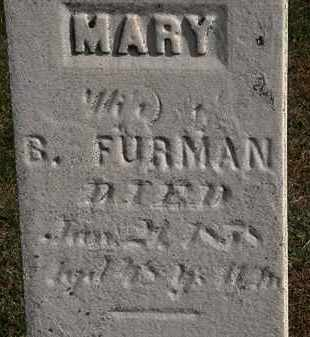 FURMAN, MARY - Erie County, Ohio | MARY FURMAN - Ohio Gravestone Photos