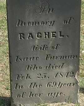 FURMAN, RACHEL - Erie County, Ohio | RACHEL FURMAN - Ohio Gravestone Photos