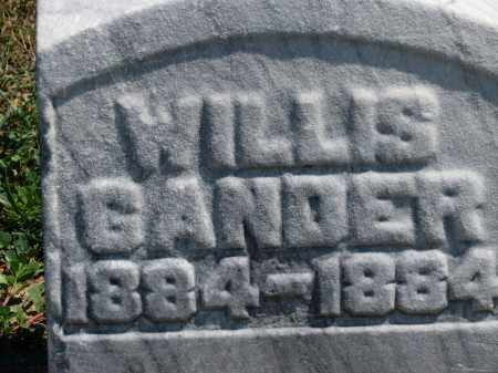GANDER, WILLIS - Erie County, Ohio | WILLIS GANDER - Ohio Gravestone Photos