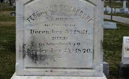GEIERSDORF, FERDINAND - Erie County, Ohio | FERDINAND GEIERSDORF - Ohio Gravestone Photos