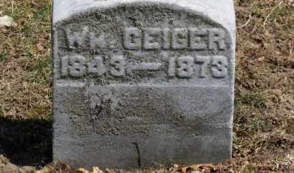 GEIGER, WM. - Erie County, Ohio | WM. GEIGER - Ohio Gravestone Photos